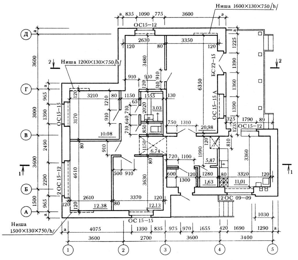 Пример плана дома. Экспресс курс по AutoCAD в Севастополе.